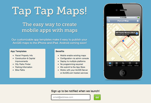 Tap Tap Maps! Website
